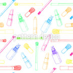 Girls Beauty Items Seamless Vector Pattern