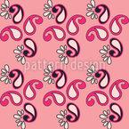 Fancy Paisley Pink Nahtloses Vektor Muster