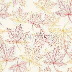 Aquarell Ahornblätter Muster Design