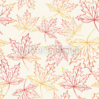 Watercolor Maple Leaves Pattern Design