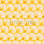 Stylized Vintage Seashells Pattern Design