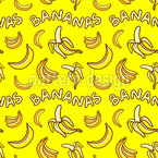 Ich liebe Bananen Designmuster