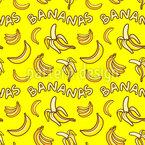 Ich liebe Bananen Nahtloses Vektormuster