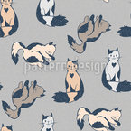 Cute Cartoon Cats Seamless Vector Pattern Design