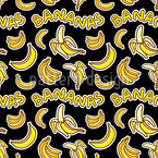 Crazy Bananas Seamless Vector Pattern