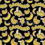 Verrückte Bananen Nahtloses Vektor Muster