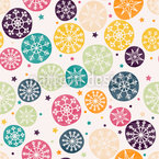 Snowflakes Everywhere Vector Pattern