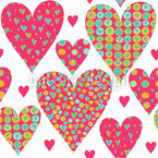 A Heart For You Seamless Vector Pattern Design