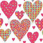 Ein Herz Für Dich Nahtloses Vektormuster
