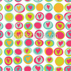 Hearts And Dots Pattern Design