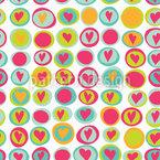 Herzen Und Punkte Muster Design