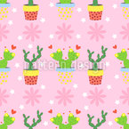 Cute And Prickly Repeating Pattern