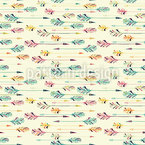 Embellished Feather Arrows Seamless Vector Pattern Design