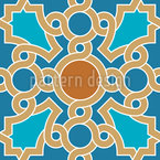 Oriental Ceiling Painting Seamless Pattern