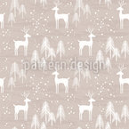 Frozen Winter Forest Seamless Vector Pattern Design