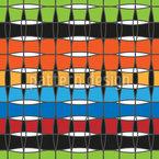 Cesto Colorido Design de padrão vetorial sem costura