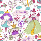 Fairy Tale Princess Seamless Vector Pattern Design