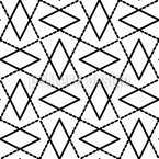 Combined Rhombuses Vector Ornament
