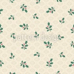 Nostalgic Ornaments and Mistletoe branches Seamless Pattern