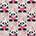 Pandas with Heart Vector Design