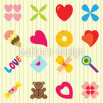 For You Only Seamless Vector Pattern Design