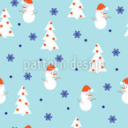 Snowman Wonderland Pattern Design