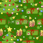 Underneath The Christmas Tree Seamless Vector Pattern Design