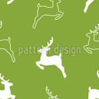 Deer Silhouettes Vector Ornament