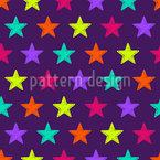 Drawn Stars Seamless Pattern