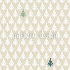 Drawn Christmas Trees Vector Pattern