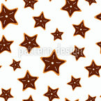 Star Shaped Cookies Seamless Vector Pattern Design