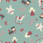 Kindlicher Weihnachtsmix Nahtloses Vektormuster