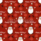 Frohe Festtage mit Santa Claus Nahtloses Vektormuster