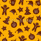 Christmas Cookies Seamless Vector Pattern Design