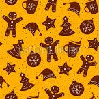 Weihnachtsgebäck Vektor Muster