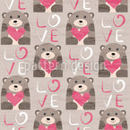 Bear With Heart  Vector Design