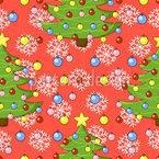 Weihnachtsbaum Nahtloses Vektormuster