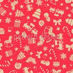 Weihnachtsdeko Nahtloses Vektormuster