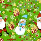Weihnachtsfeier Nahtloses Vektormuster