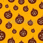 Christmas Tree Bauble Cookies Seamless Vector Pattern Design