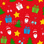 Niedliche Weihnachtsdekoration Nahtloses Vektormuster