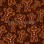 Gingerbread Men Seamless Pattern