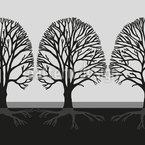 Entlang Der Bäume Nahtloses Vektormuster