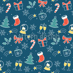 Happy Christmas Time Seamless Vector Pattern Design