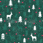 Snow In The Forest Seamless Vector Pattern Design