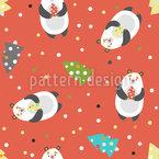Christmas Bears Seamless Vector Pattern Design