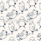Fröhliche Vögelchen Nahtloses Vektormuster