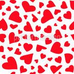 Herzblätter Vektor Muster