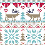 Winter Fairytale Seamless Vector Pattern Design