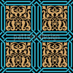 Ancient Marquetry Seamless Vector Pattern Design
